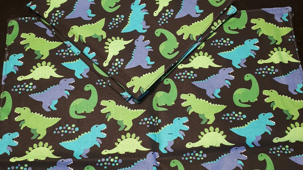 Mouchoir en tissu bio dinosaures