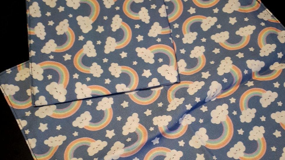 Mouchoir en tissu bio arcs en ciel