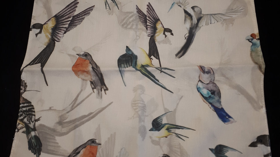 Mouchoir en tissu bio oiseaux