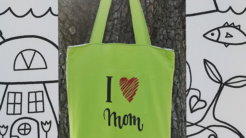 Tote bag I love Mom