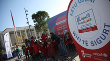 "UNICEF and the Municipality of Tirana inaugurated the fifth ""Friendly Wi-Fi"" zone at Skanderbeg Squa"