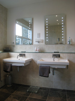 His & Her wall mounted sinks