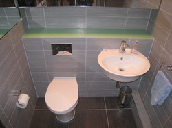 Back to wall W.C & wall mounted sink