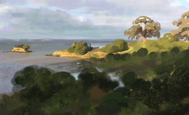 China Basin landscape sketch