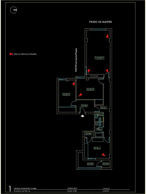Proyecto de Reforma interior de vivienda (piso). Archivos editables