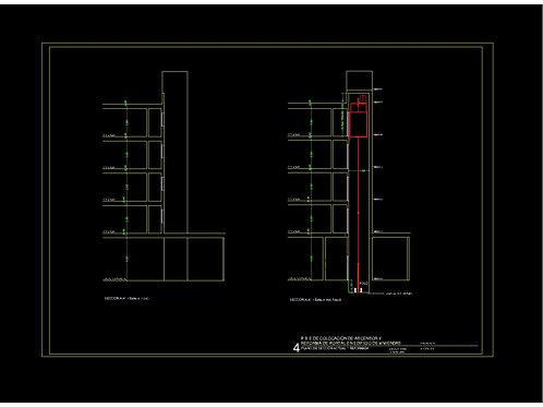 Proyecto de ASCENSOR en edificio existente. Archivos Editables