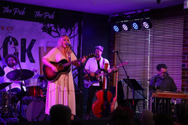 Catherine Briit Performing at Lucky Oceans Album Launch