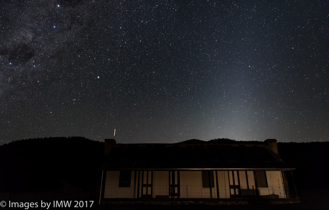 Zodiacal light and Snowy Mountains night shoot 17 September 2017