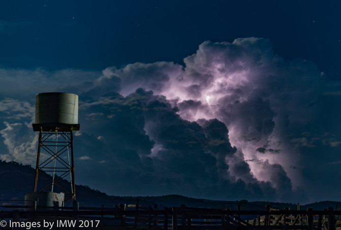 An awesome Summer storm 2 January 2018 - on supermoon night