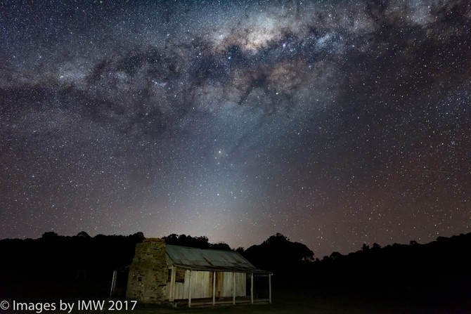An awesome night at Brayshaw's Hut, Namadgi National Park, Bimberi Wilderness area, southern ACT