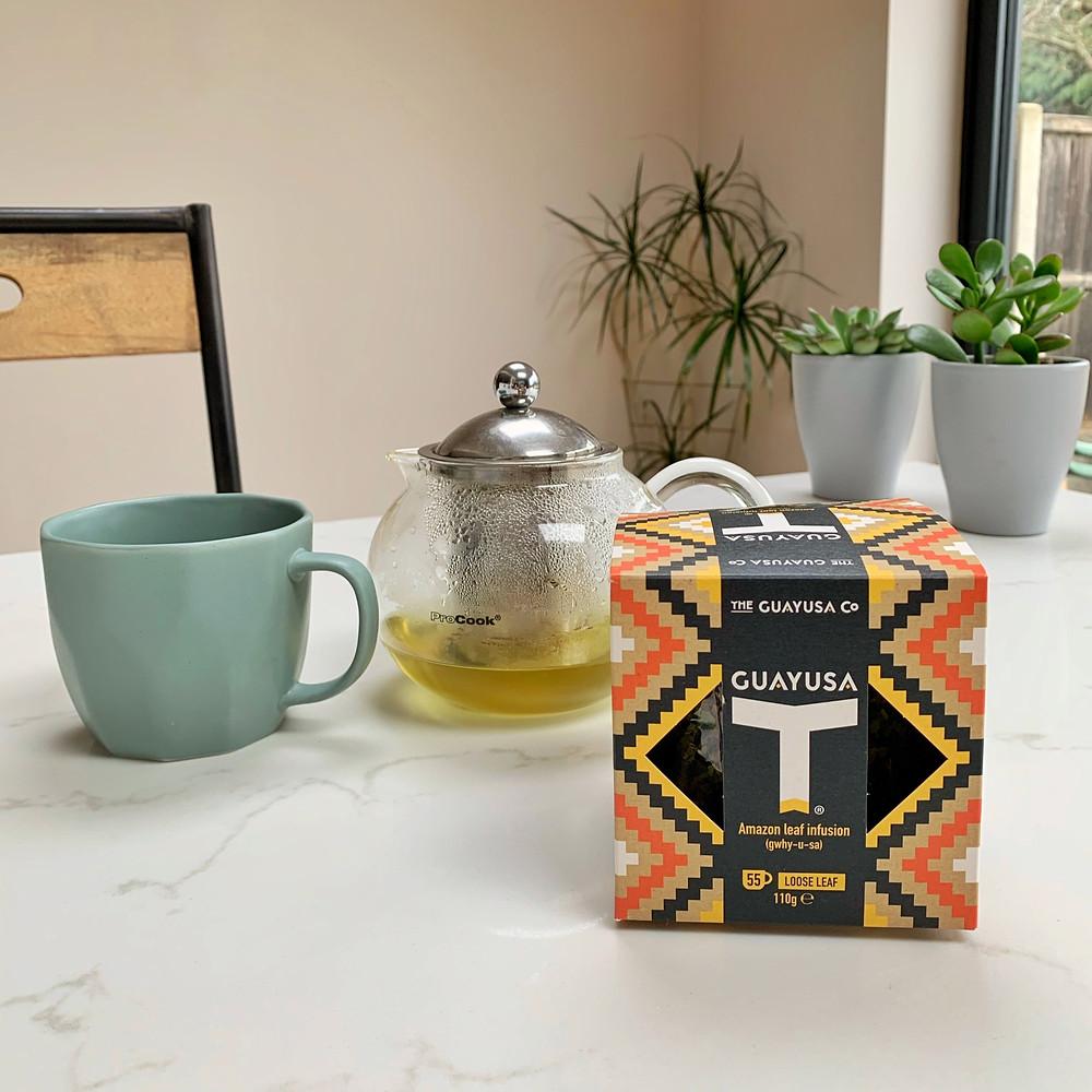 Guayusa Tea - loose leaf tea pot and cup