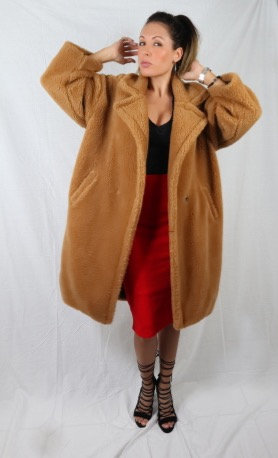 Camel Teddy Coat