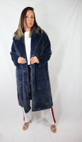 Navy Faux Fur coat