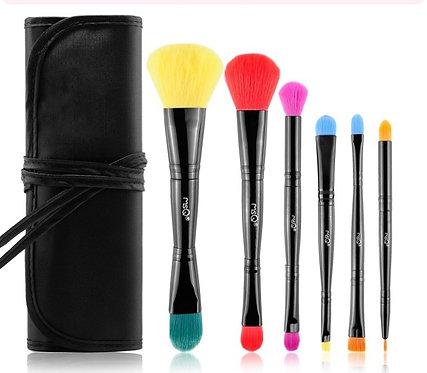 Rainbow 6 Pack Make Up Brushes