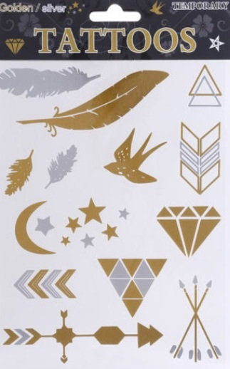 Jade Metallic Temporary Tattoo
