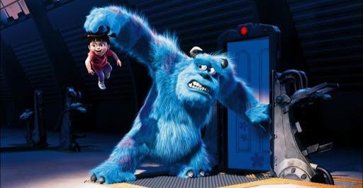 monstre effrayé par une enfant
