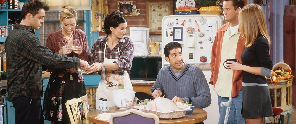 repas thanksgiving friends