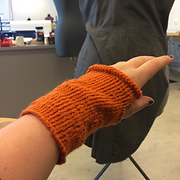 knitted gloves for The Pigeon