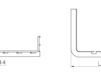 0 EZ 2/BF611 ฉากรองใต้ราง T profile ราง 100mm