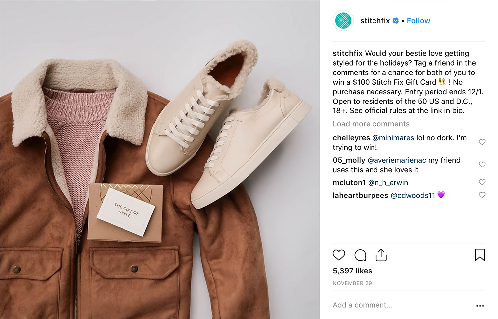 instagram content example - stitchfix