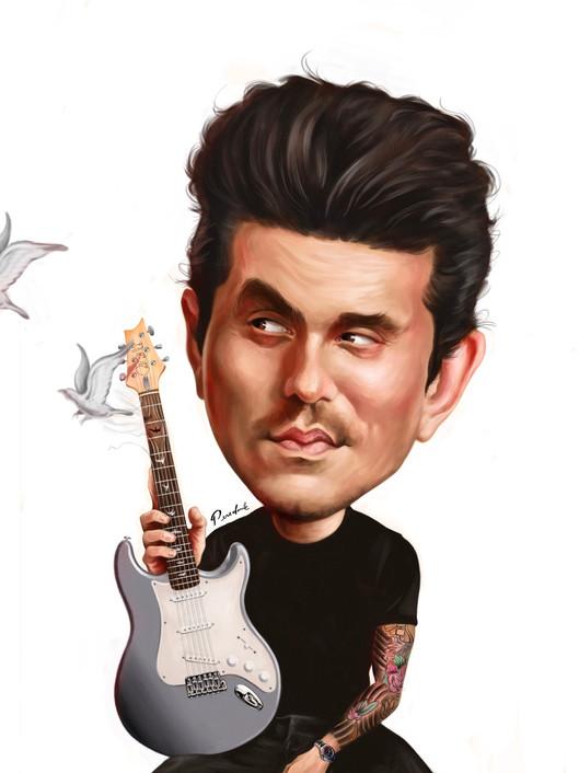 6 John Mayer Caricature by Juan Perednik