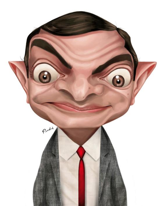 Mr Bean pintura por Perednik2.jpg
