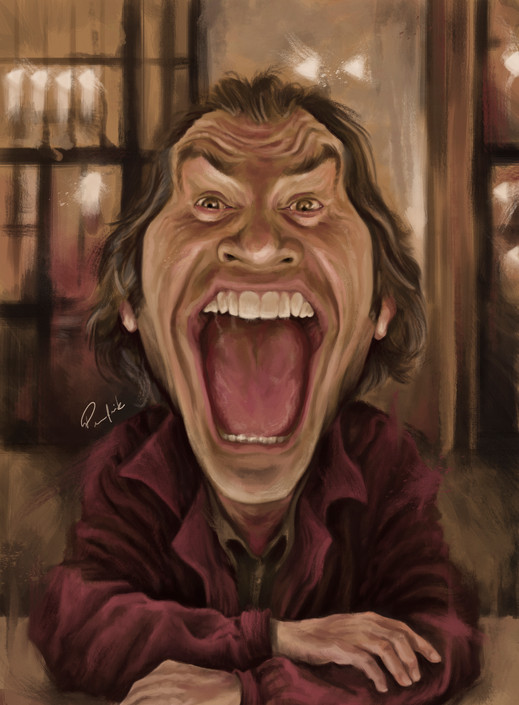 Jack Nicholson The Shinning by Juan Pere