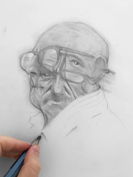drawing composition portrait pencil graphite