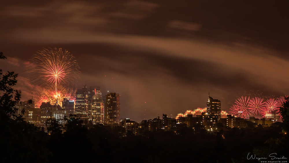 Sydney spectacular firework new year eve 2019 view from my balcony