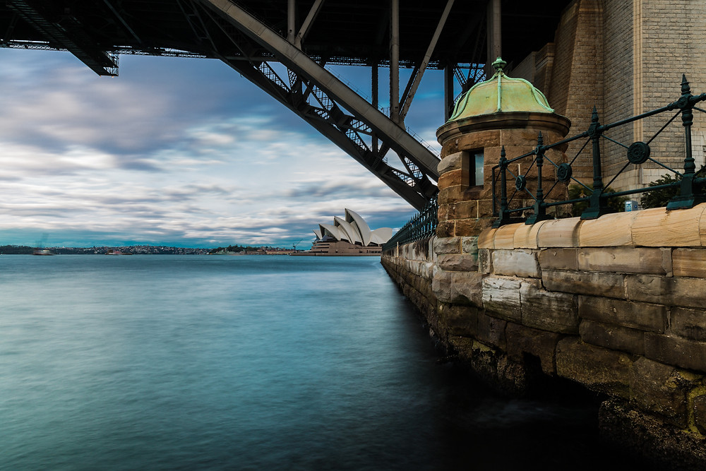 Under the Sydney Harbour Bridge, Shooter 10s, f/22 iso 50