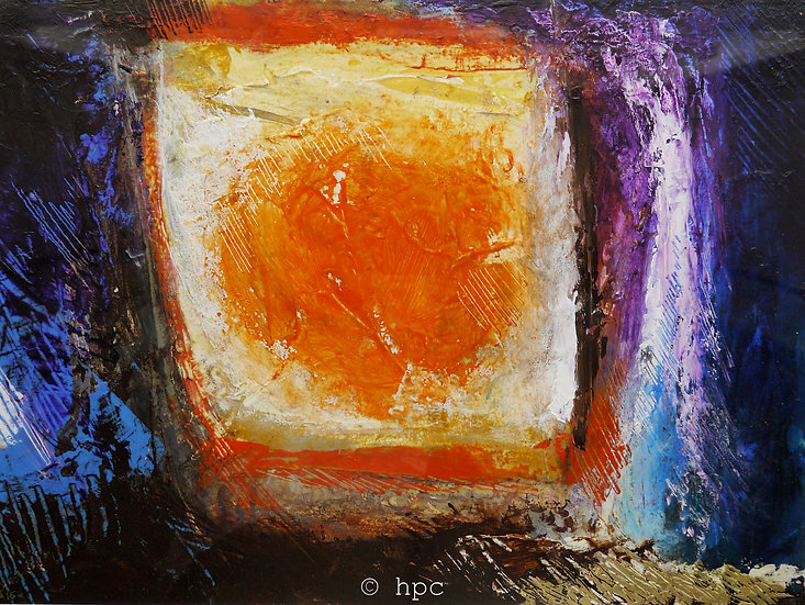 Reflected Sun, 30cm x 40cm