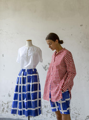 21148 - Shirt Carola 21150/P - Skirt Janet  21145/P - Shirt Clementina 21151/P - Shorts Porzia