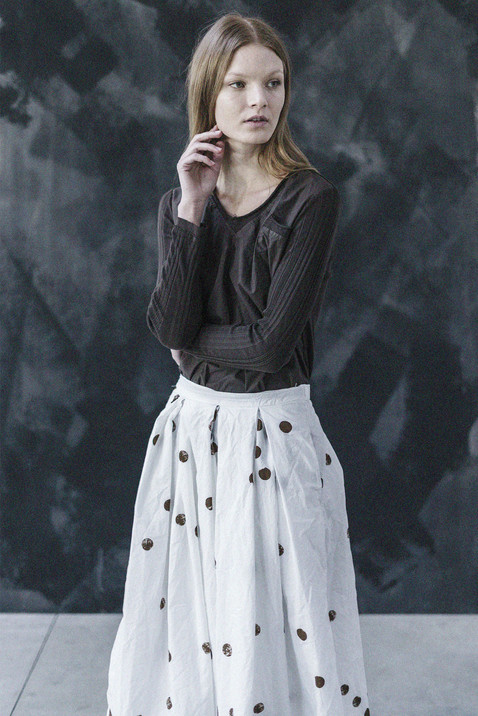 21348 - Shirt Sabina group 10 percale 21354P - Skirt Ines group 10P printed percale