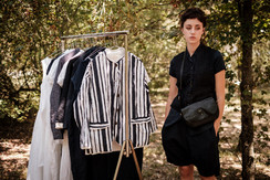 19142 - cotton jacket Valeska 19101 - linen viscose gilet Ginette 19150 - cotton shirt Claudine 19139 - cotton linen pants Philipine 19908 - leather bag Sabrina