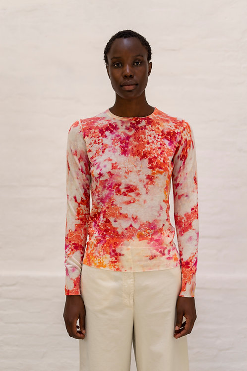 S2123 - PRINTED ROUNDNECK PULLOVER