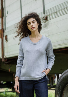 S2042-cotton roundenck pullover