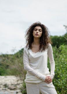S2051-cotton/cashmere t-shirt