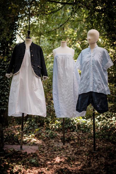 19100 - linen viscose jacket Vanessa 19153 - cotton dress Rubina 19177 - cotton dress Rogere 19179 - cotton shirt Claire 19129 - linen short Susanna