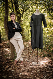19111 - linen silk jacket Vilma 19160 - cotton shirt Conny  19140 - cotton linen pants Prune 19156 - cotton dress Roberta