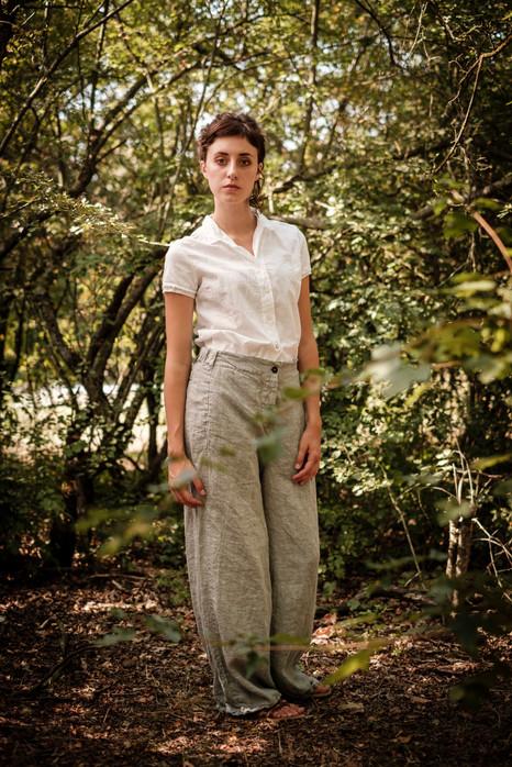 19150 - cotton shirt Claudine 19124 - linen pants Philomena