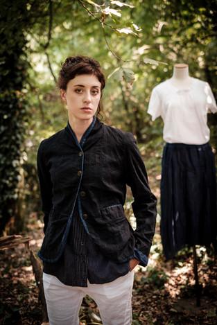 19117 - linen cotton jacket Veronica 19180 - cotton shirt Chinzia