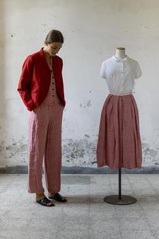 21105 - Jacket Velia 21115 - Gilet Grazia 21117 - Pants Petronilla  21157 - Shirt Clelia 21116 - Skirt Jarilee