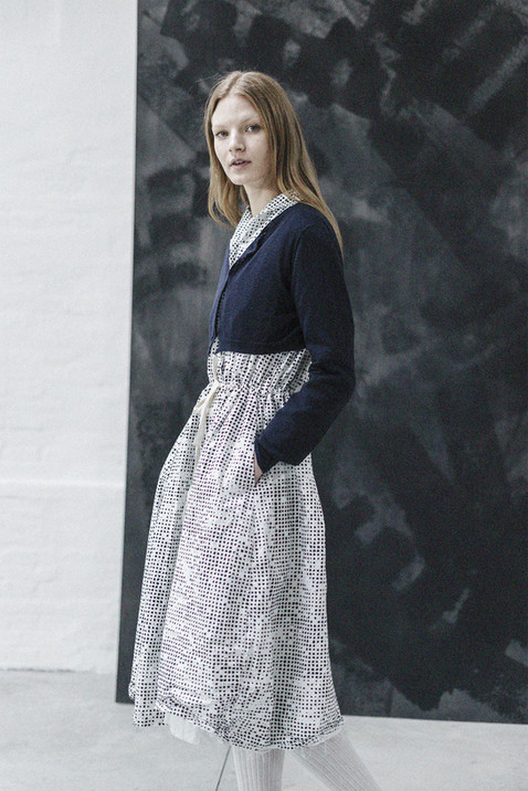 21406 - Cardigan Katia group 15 - knit 21347P - Dress Demetra group 10P printed percale