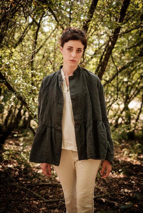 19121 - linen jacket Vivianne  19159 - cotton shirt Charlotte 19140 - cotton linen pants Prune