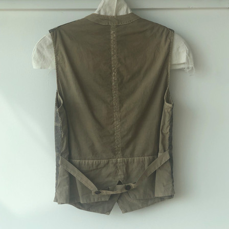S20101 - Gilet Ginette  (back) 68%CO + 30% LI + 2% PL Price : 295 $