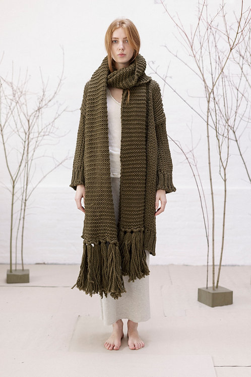 SCARF WITH FRINGES