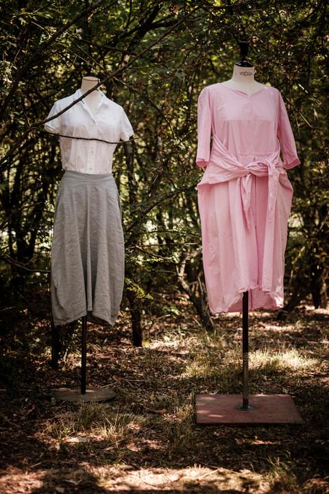 19150 - cotton shirt Claudine 19113 - linen silk skirt Jocelyne  19156 - cotton dress Roberta