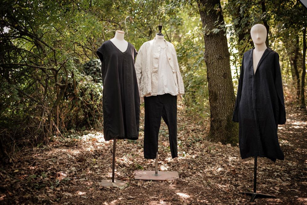 19182 - silk dress Roselyne 19121 - linen jacket Vivianne 19160 - cotton shirt Conny 19114 - linen silk pants Paloma 19127 - linen dress Ryme