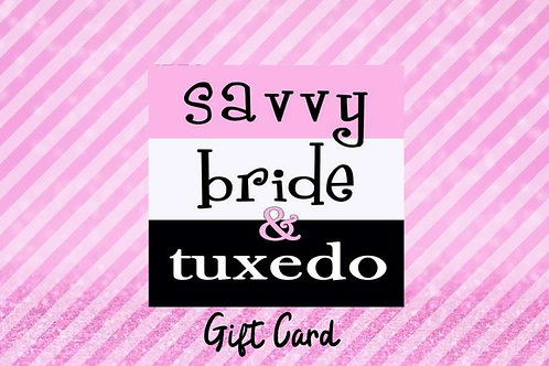 Giftcard for Savvy Bride