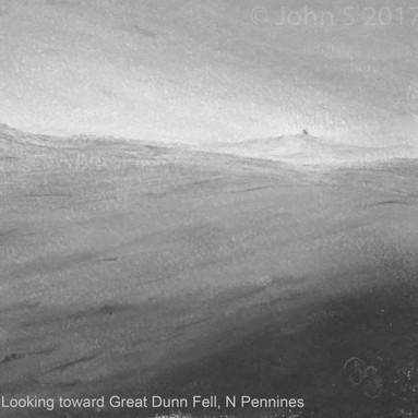 Looking toward Great Dunn Fell, N Pennines